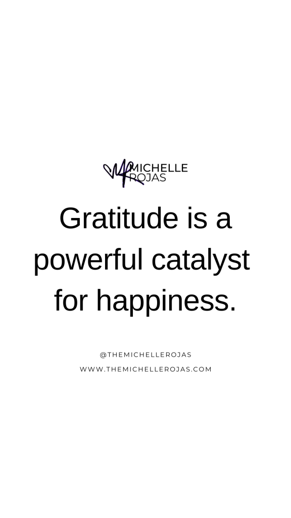 gratitude is a powerful catalyst quote