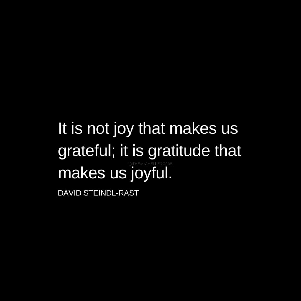it is not joy gratitude quote