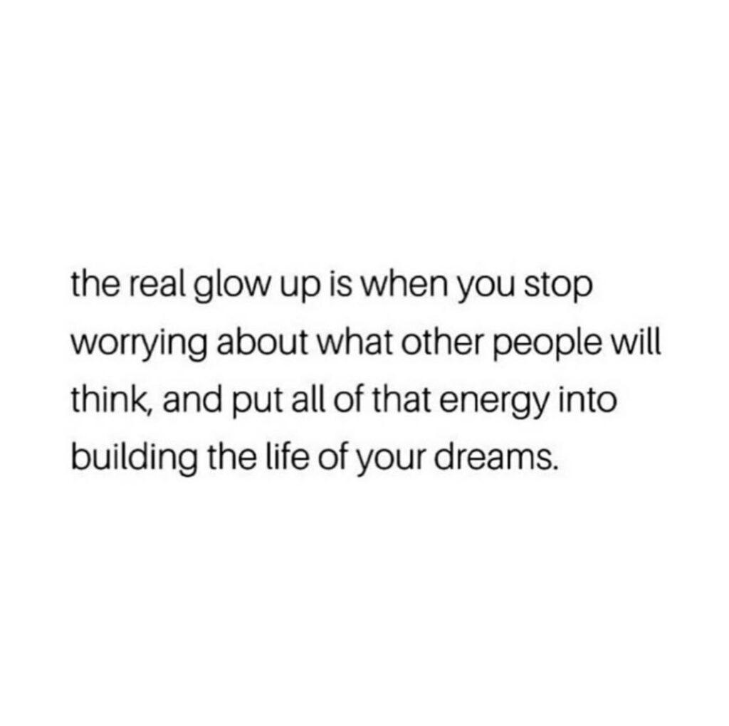 the real glow up quote