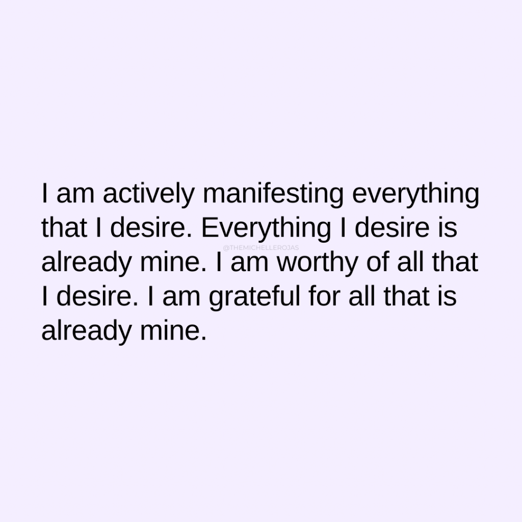 i am actively manifesting quote